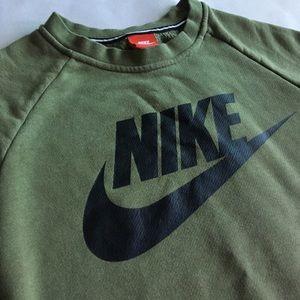 Olive Green Nike Crewneck